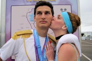 disney princess half marathon, runDisney, Cinderella running costume, Prince Charming running costume.