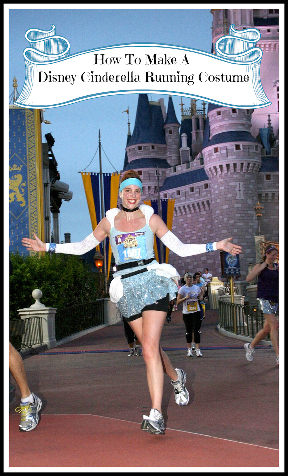 How to Make Cinderella u0026 Prince Charming Disney Running Costumes  sc 1 st  Run Karla Run! & Cinderella Running Costume Poster  Run Karla Run!   Run Karla Run!