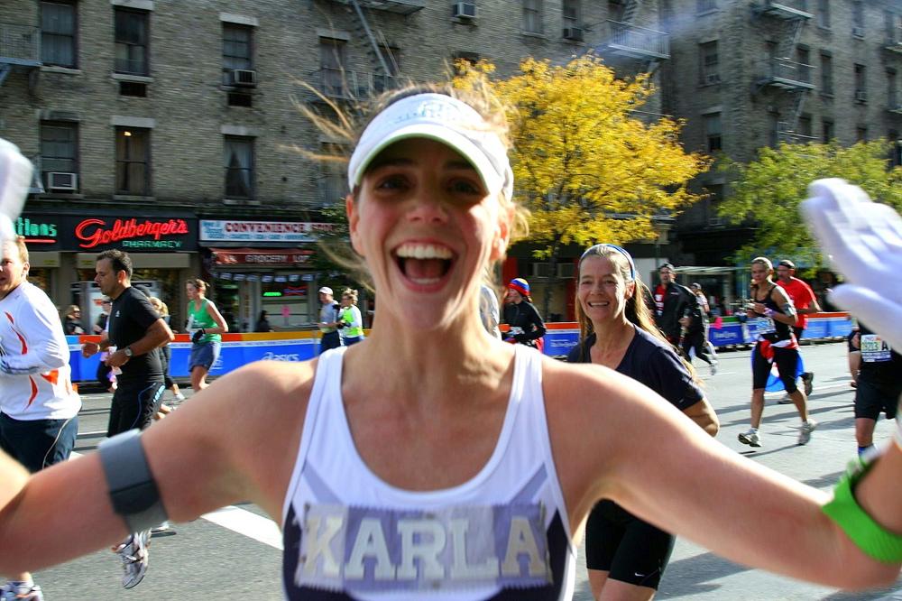 ING New York City Marathon, first avenue, running