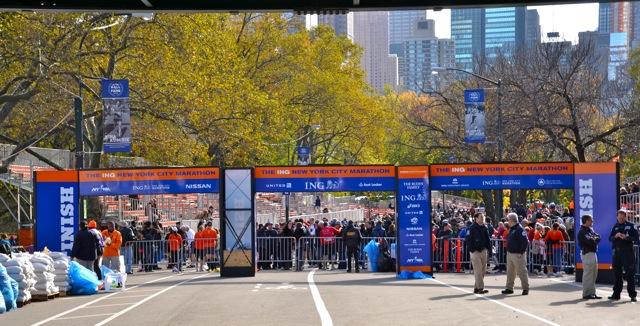 NYC marathon, Central Park