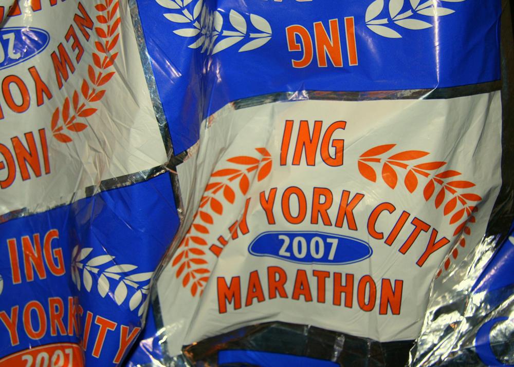 NYC Marathon, ING New York City Marathon, space blanket
