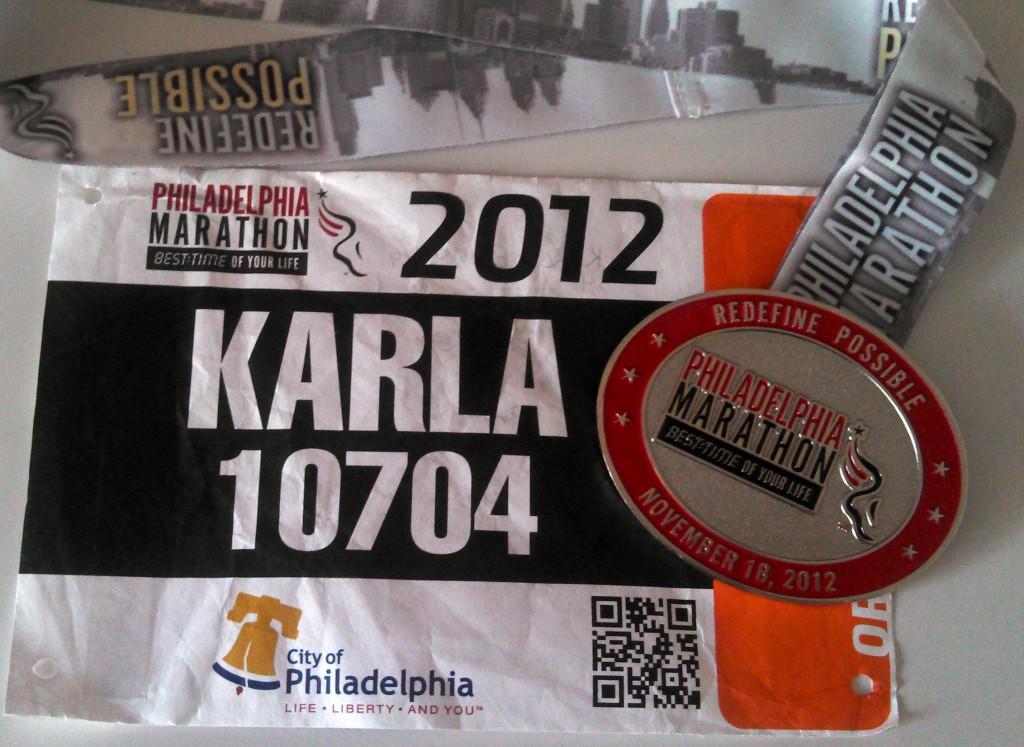 Philadelphia Marathon, running bib
