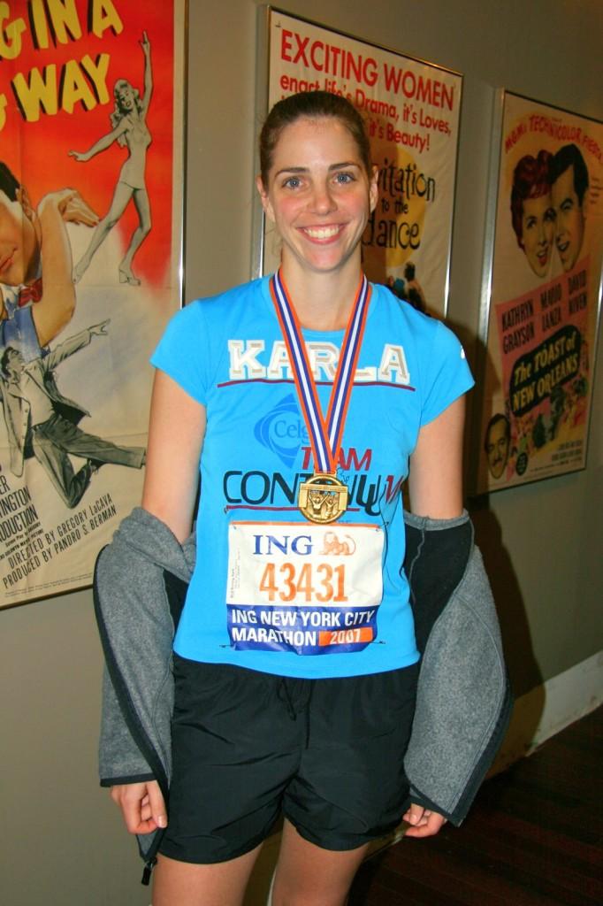 NYC marathon, first marathon