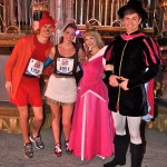 Walt Disney World Marathon, Disney running, run Disney, Sleeping Beauty, Princess Aurora, Prince Philip, Cinderella in rags running costume