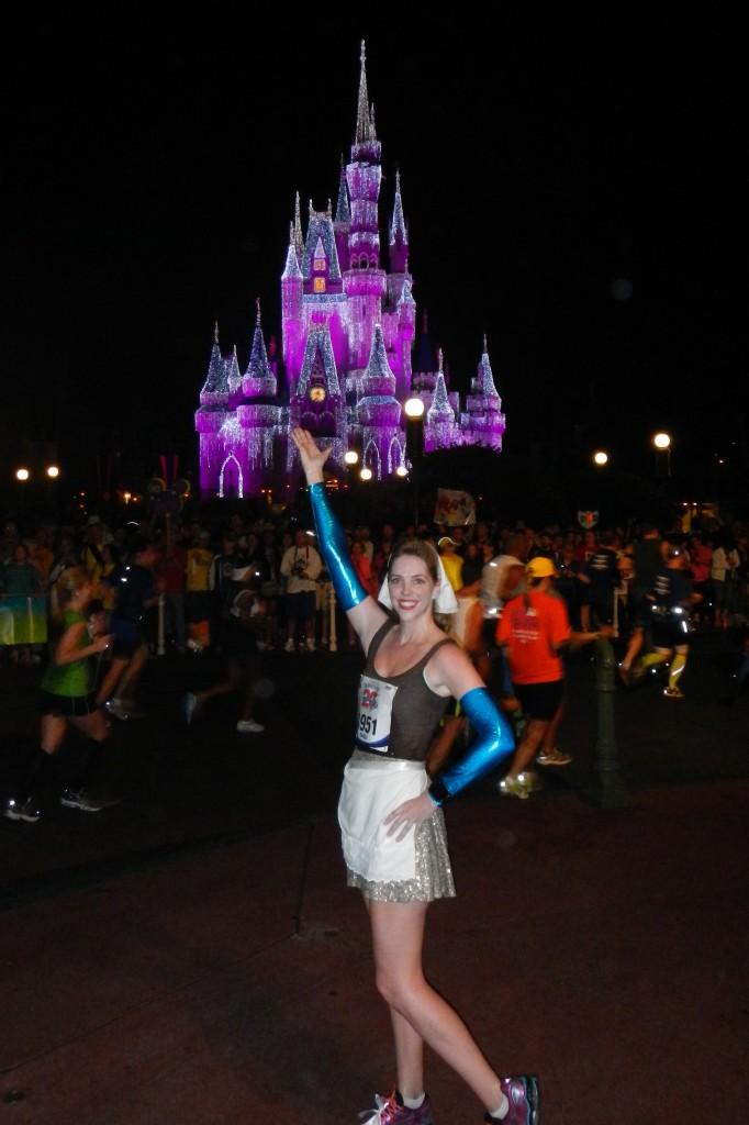 Walt Disney World Marathon, Disney running, run Disney, Cinderella Castle, Cinderella running costume