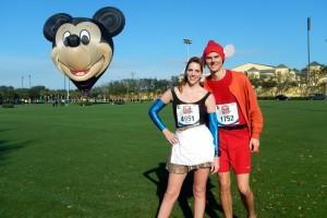 Walt Disney World Marathon, Disney running, runDisney, Cinderella in rags, Jacque the mouse, running costume