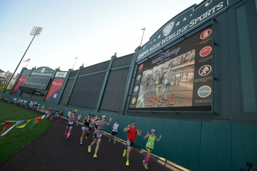 Walt Disney World Marathon course, run Disney, Disney running, Champion Stadium