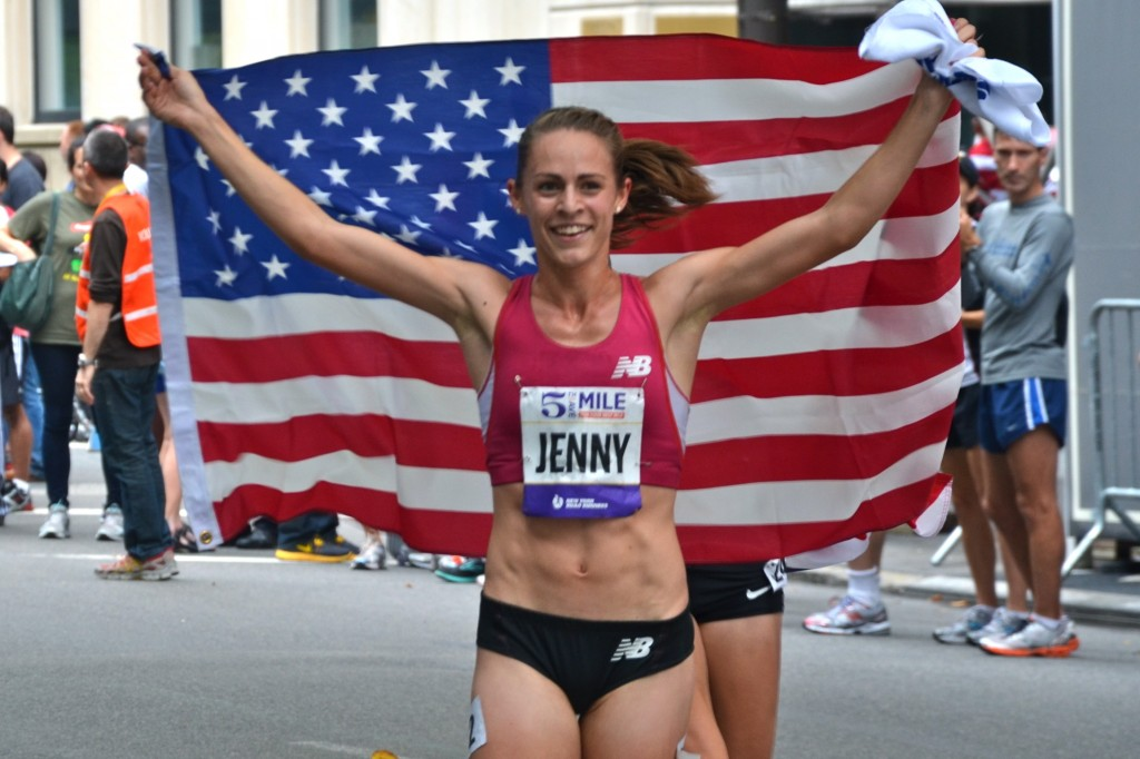 Jenny Simpson at the 2012 Fifth Avenue Mile. (Photo: Phil Hospod)