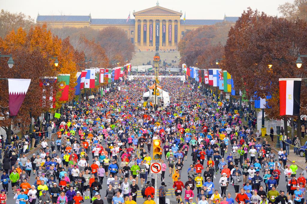 Philadelphia Marathon and Philadelphia Half Marathon Start