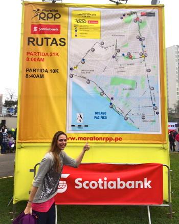 Running Maraton RPP Scotiabank in Lima, Peru