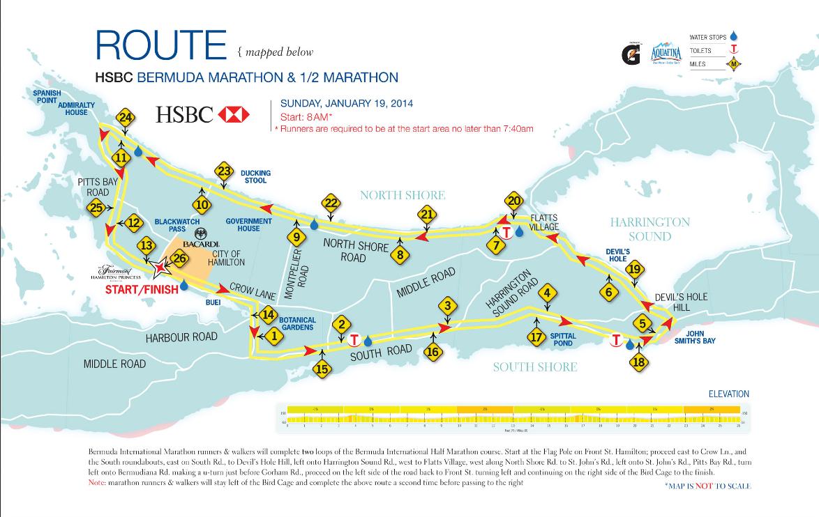 Map Of New York Half Marathon.Bermuda Marathon Half Marathon Course Map Run Karla Run Run